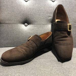 Church's Suede Monk Strap Shoe
